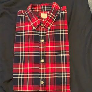 JCrew long sleeve red plaid oxford